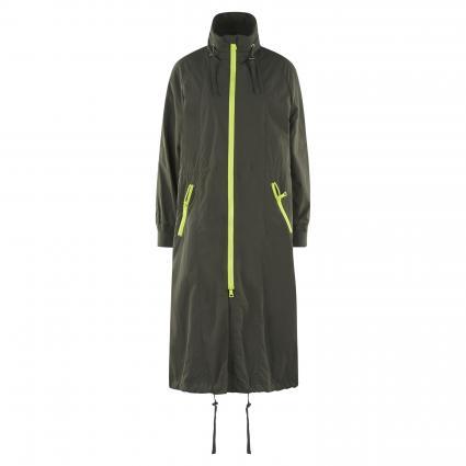 Regenmantel 'Laura' mit Stehkragen oliv (7500 Jungle) | S