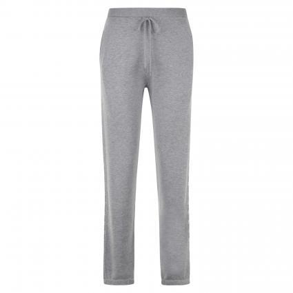 Gestrickte Jogginghose mit Sternenmuster grau (1108 grey) | 42