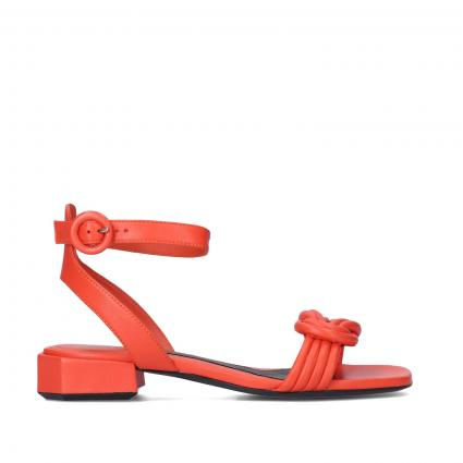 Sandaletten aus Leder orange (ARANCIO)   38