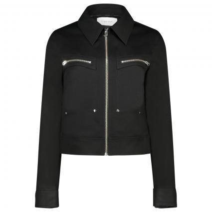 Jeansjacke mit Reißverschluss schwarz (BDS CALVIN BLACK) | 36