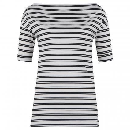 T-Shirt mit Streifenmuster weiss (100 white) | 40