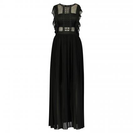 Langes Kleid mit Bandeau-Einsatz schwarz (black) | 34