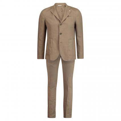 Slim-Fit Anzug aus Leinen braun (27 braun) | 50