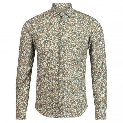 Slim-Fit Hemd mit floraler Musterung braun (27 braun) | 44