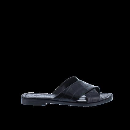 Sandale mit Reptilien-Struktur schwarz (BLACK) | 6,5