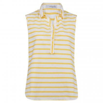 Ärmellose Bluse mit Streifenmuster gelb (179-63 weiß-gelb) | 36