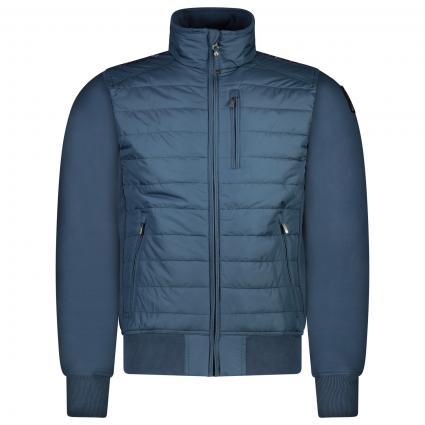 Bomber-Steppjacke aus elastischer Baumwolle und Polyester-Taft  blau (708 INTERSTELLAR)   L