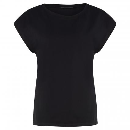 Unifarbenes Basic Shirt schwarz (004 schwarz) | S
