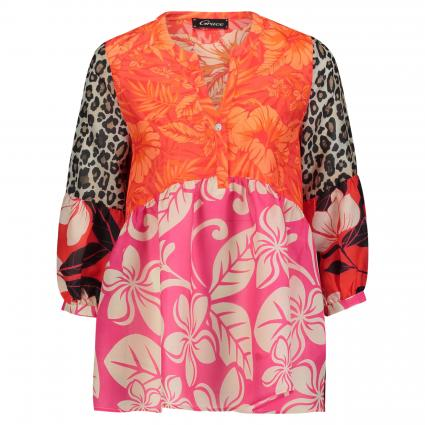 Bluse mit All-Over Print pink (610 pink) | S