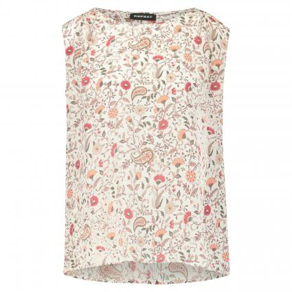 Top aus Seide mit All-Over Print weiss (9068 paisley) | 38