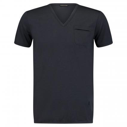 Basic T-Shirt mit Brusttasche marine (C166 royal navy)   L