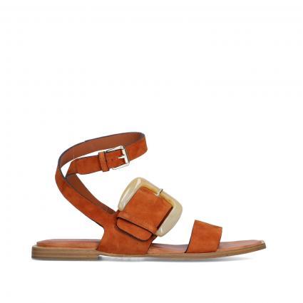 Sandalen aus Leder cognac (CUOIO) | 38