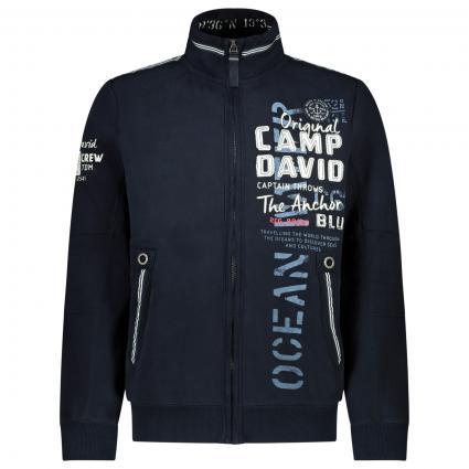 Jacke mit Label-Stickerei  marine (Blue Navy) | XL