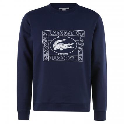 Sweatshirt mit Frontprint marine (166 Navy) | XXL