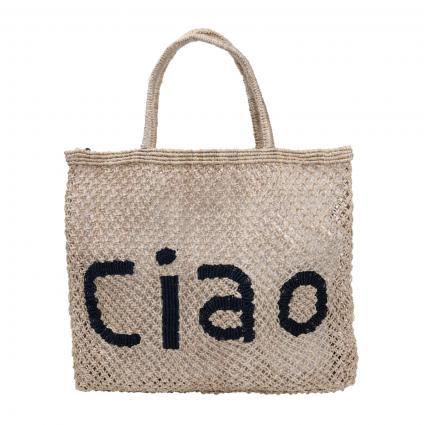 Tasche 'Ciao Large' aus Jute beige (NAT 13 BODY INDIGO 2)   0