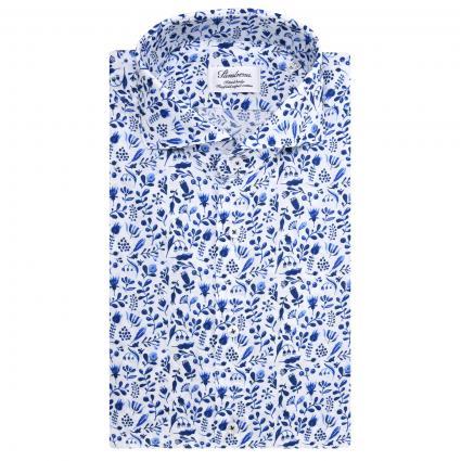 Regular-Fit Hemd mit floralem All-Over Muster blau (121 blau)   41