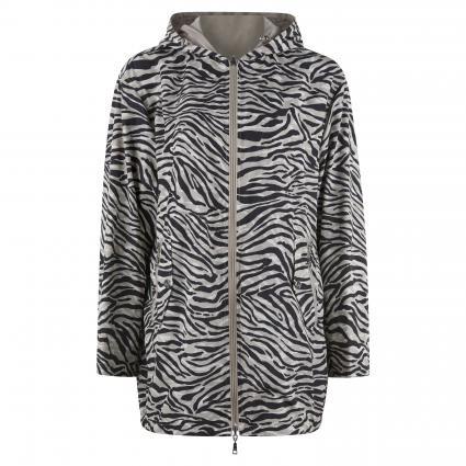 Kapuzenjacke zum Wenden beige (3809 black zebra)   46