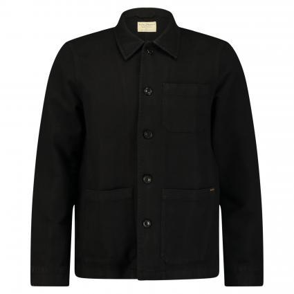 Jacke 'Barney' im Workwear-Style schwarz (black) | M