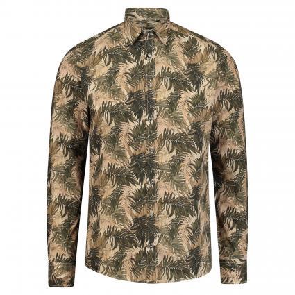 Slim-Fit Hemd 'Iver' mit Botanik-Muster beige (490) | 39