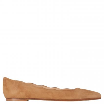 Ballerina mit Wellkante cognac (AMALFI CUOIO) | 39