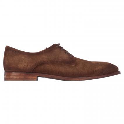 Business Schuhe aus Leder mit Perforierung braun (SORRENTO NOCE) | 41