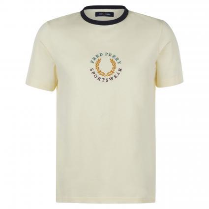T-Shirt mit Logo-Stickerei marine (J87 butter icing) | M