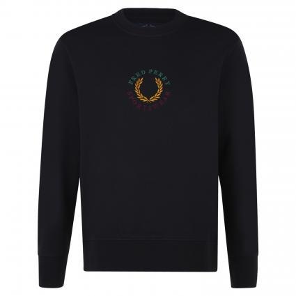Sweatshirt mit Logo-Stickerei marine (608 navy) | L