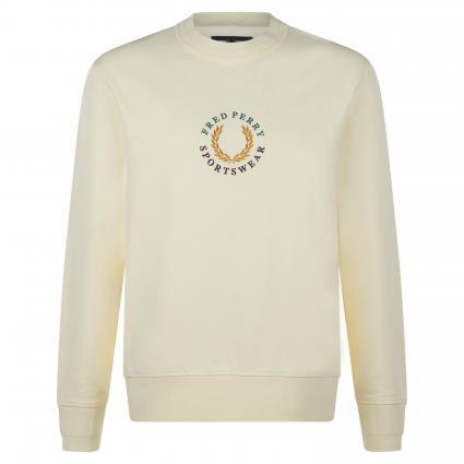 Sweatshirt mit Logo-Stickerei ecru (J87 butter icing) | XL
