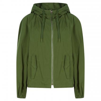 Kapuzenjacke mit sportiven Details grün (0760 grün) | 34