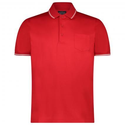 Poloshirt mit Kontraststreifen rot (577 Red) | M