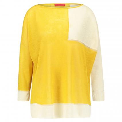 Oversize Pullover 'Culla' im Colourblocking Design beige (002) | S
