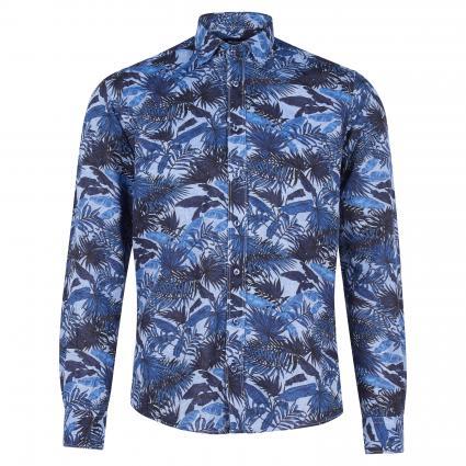 Slim-Fit Hemd mit Streifenmuster blau (blau) | 42