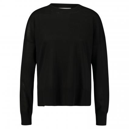 Pullover 'Dida' mit Rundhalsausschnitt schwarz (BLACK) | M