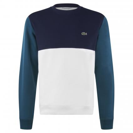 Sweatshirt in Colour-Blocking Optik grün (XP2 Green) | XL