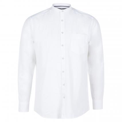 Hemd mit Leinen Anteil weiss (109-449-00 White) | XL