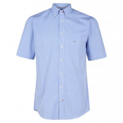 Kurzarmhemd mit All-Over Muster blau (6021 Stripe Blue)   M