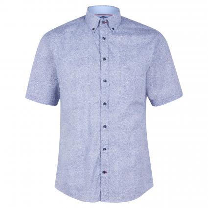 Kurzarmhemd mit All-Over Muster blau (6027 Minimal) | XL
