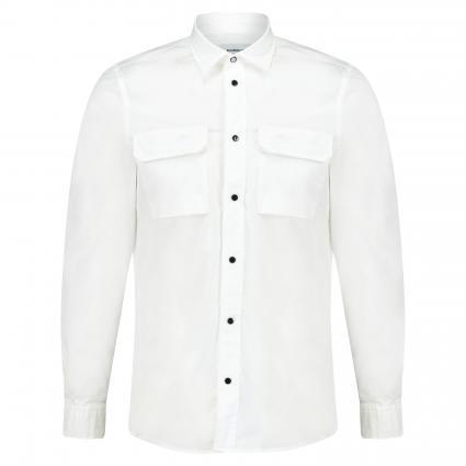 Hemd mit Druckknopfleiste weiss (000) | M
