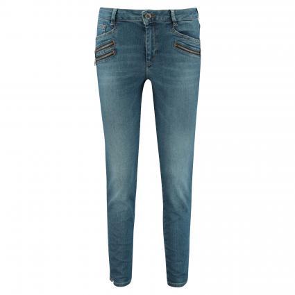 Slim-Fit Jeans 'Berlin' mit Zierreißverschlüssen blau (401 BLUE CROPPED)   28   26