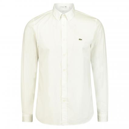 Slim-Fit Hemd mit Button-Down Kragen weiss (001 White) | 38