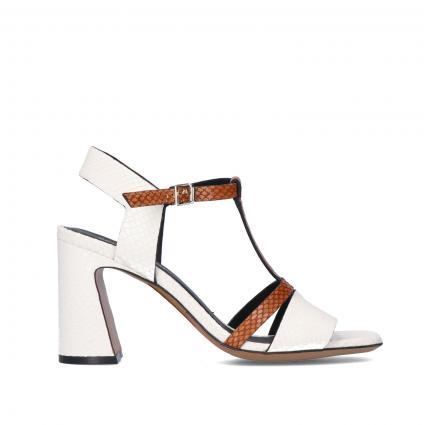 Sandaletten aus Leder cognac (AVORIO+CUOIO) | 38