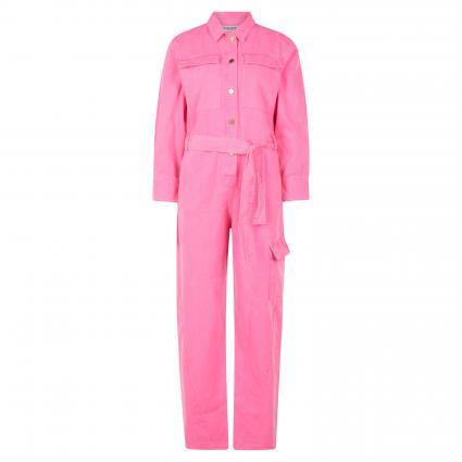 Jumpsuit mit Cargotasche in Denim-Optik pink (HARDCORE PINK HP08) | 34