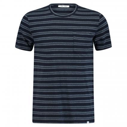 T-Shirt 'Carpo' in Streifen-Optik weiss (night sky str) | S