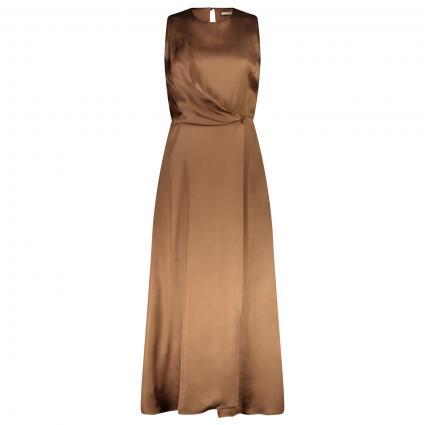 Kleid mit offenem Rücken braun (30471) | S