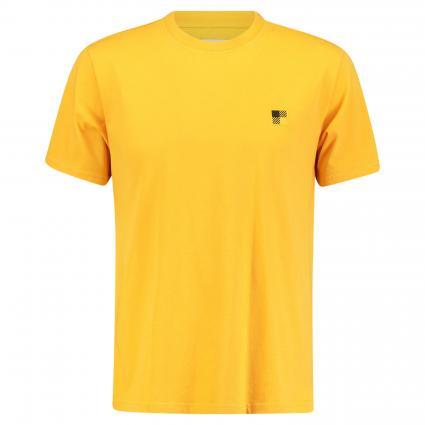 T-Shirt mit Stickerei und Rundhalsausschnitt gelb (2012 budda gold)   M