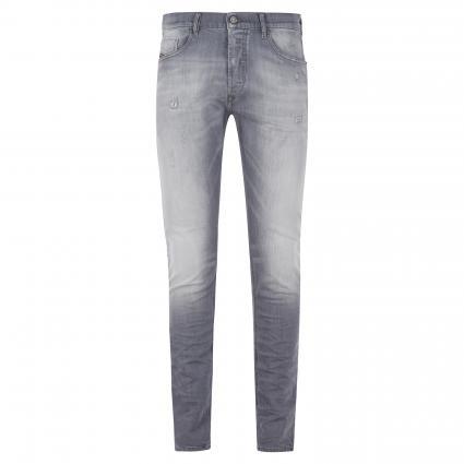 Slim-Fit Jeans mit Waschung in Used-Optik grau (095R 07 grey) | 33 | 32