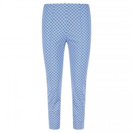 Elastische Hose mit All-Over Musterung 'Capri' blau (847 jeansblau) | 44