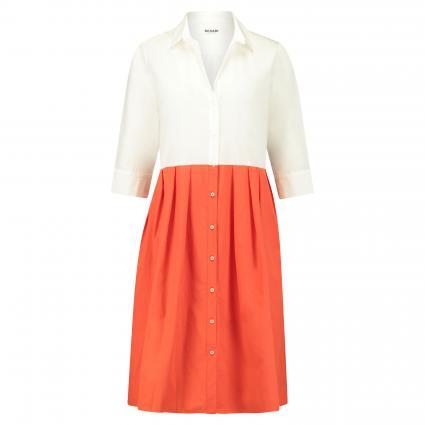 Hemdblusenkleid in Colour-Blocking Optik orange (A5/19 weiß/orange-be) | 46