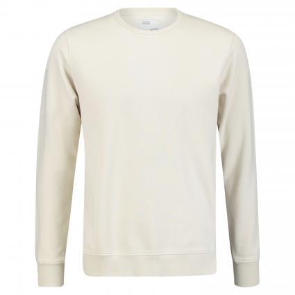 Sweatshirt mit Rundhalsausschnitt ecru (ivory white)   XL