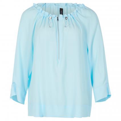 Bluse mit weitem Rundhalsausschnitt blau (305 powder blue) | 36